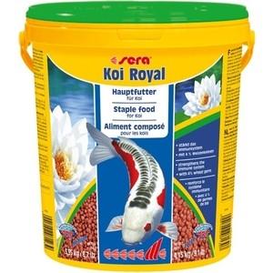 Корм SERA KOI ROYAL LARGE Staple Food for Large Koi гранулы для крупных кои 21л (4,15кг)
