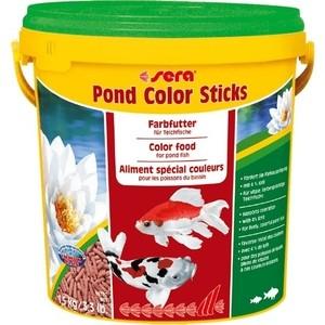 Корм SERA POND COLOR STICKS Color Food for Pond Fish палочки для прудовых рыб 10л (1,5кг) корм tetra tetramin xl flakes complete food for larger tropical fish крупные хлопья для больших тропических рыб 10л 769946