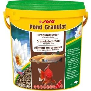 Корм SERA POND GRANULAT Granulated Food for Pond Fish палочки для прудовых рыб 10л (1,5кг) корм tetra tetramin xl flakes complete food for larger tropical fish крупные хлопья для больших тропических рыб 10л 769946
