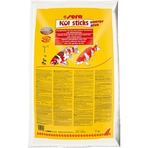 Корм SERA KOI STICKS ENERGY PLUS Energy Food for Koi and Other Pond Fish with Wheat Germ с пшеничным зародышем для кои и прудовых рыб 40л 1000g 98% fish collagen powder high purity for functional food