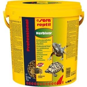 Корм SERA REPTIL Professional Herbivor Professional Food for Herbivorous Reptiles гранулы для растительноядных рептилий 10л (3,2кг)
