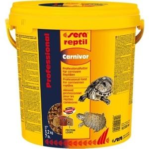 Корм SERA REPTIL Professional Carnivor Professional Food for Carnivorous Reptiles гранулы для плотоядных рептилий 10л (3,2кг)