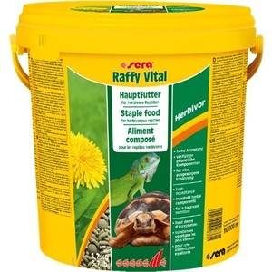 Корм SERA RAFFY VITAL Herbivor Staple Food for Herbivorous Reptiles гранулы для растительноядных рептилий 10л (1,7кг)