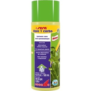 Удобрение SERA FLORE 1 CARBO Systemic Care Alternative Carbon Source альтернативный источник углерода для аквариумных растений 500мл