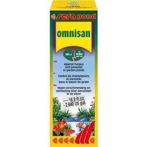 Средство SERA POND OMNISAN Against Fungus and Parasites in Garden Pond для борьбы с грибками и паразитами в пруду 500мл solar powered pond pump water fountain kit for garden pool