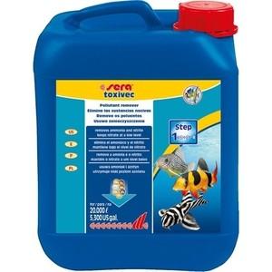 Препарат SERA TOXIVEC Pollutant Remover удаление аммиака, нитритов и других загрязняющих веществ для воды в аквариуме 5л препарат sera pond toxivec pollutants remover для удаления загрязняющих веществ из прудовой воды 500мл