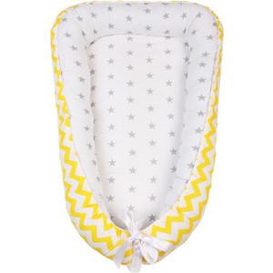 Позиционер для сна AmaroBaby кокон-гнездышко, SWEET BABY желтый/серый цена