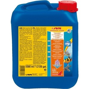 Препарат SERA PHOSVEC Phosphate-EX удаление фосфатов для воды в аквариуме 5л