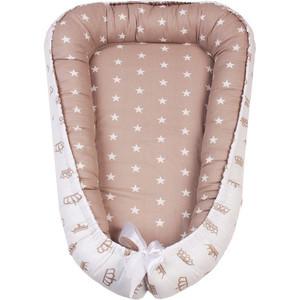 Позиционер для сна AmaroBaby кокон-гнездышко, SWEET BABY коричневый/звезды позиционеры для сна forest кокон гнездышко для новорожденных beddy byes