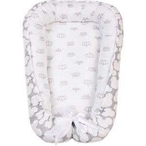 Позиционер для сна AmaroBaby кокон-гнездышко, SWEET BABY серый позиционеры для сна forest кокон гнездышко для новорожденных beddy byes