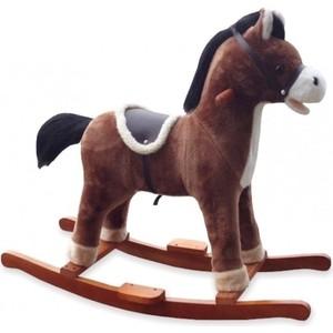Лошадка-качалка BabyMix OSCAR, коричневый с темной гривой (FL-XR312) babymix