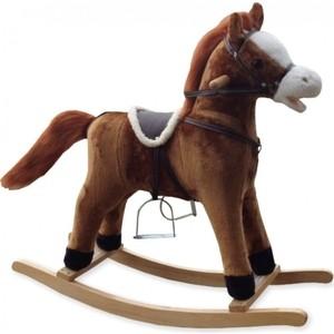 Фотография товара лошадка-качалка BabyMix OSCAR, светло-коричневый с рыжей гривой (FL-XR027) (798787)