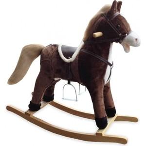 Фотография товара лошадка-качалка BabyMix OSCAR, коричневый со светлой гривой (FL-XR025) (798791)
