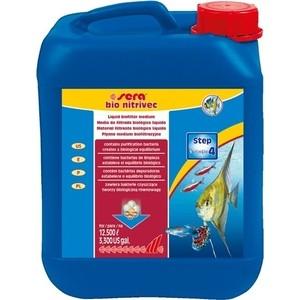 Препарат SERA BIO NITRIVEC Liquid Bio Filter Medium для биологической очистки воды в аквариуме 5л аммоний фтористый кислый купить в пензе