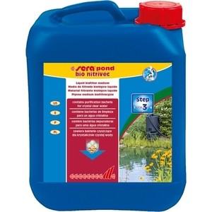 Препарат SERA POND BIO NITRIVEC Liquid Bio Filter Medium для биологической очистки воды в пруду 5л тест sera ph тест для воды 15 мл
