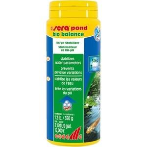 Препарат SERA POND BIO BALANCE KH/pH Stabilizer для стабилизации параметров воды в пруду 550г тест sera ph тест для воды 15 мл
