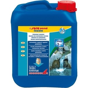 Препарат SERA POND TOXIVEC Pollutants Remover для удаления загрязняющих веществ из прудовой воды 5л средство для воды sera baktopur direct 24 таблетки
