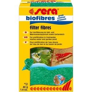 Наполнитель SERA BIOFIBRES GROSSES Filter Fibres для грубой механической предварительной очистки воды в аквариумах и прудах 400г