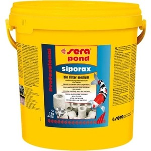 Наполнитель SERA POND SIPORAX Bio Filter Medium для биологической фильтрации воды в пруду 10л средство для воды sera baktopur direct 24 таблетки
