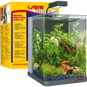Аквариумный комплекс SERA PRECISION BIOTOP NANO LED CUBE 16 с LED освещением 16л помпа sera precision adjustable filter and feed pump fp 1000 погружная для аквариумов