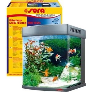 Аквариумный комплекс SERA PRECISION BIOTOP LED CUBE 130 XXL с LED освещением 130л аквариумный нагреватель sera precision 50 вт