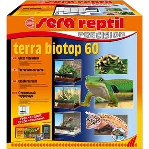 Террариум SERA PRECISION TERRA BIOTOP 60 Glass Terrarium стеклянный с термометром/гигрометром 60л грунт для террариума sera reptil coco soil