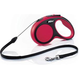 Рулетка Flexi New Comfort S трос 5м черная/красная для собак до 12кг поводки triol поводок рулетка 5м до 12кг трос