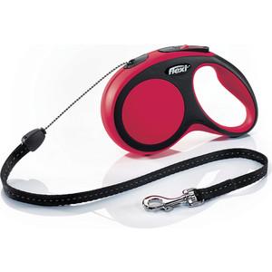 Рулетка Flexi New Comfort М трос 5м черная/красная для собак до 20кг рулетка flexi new classic м трос 5м черная для собак до 20кг