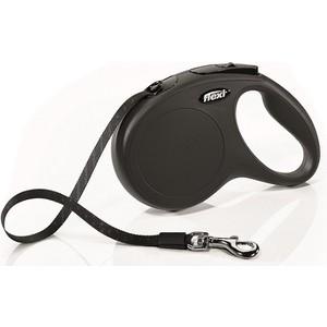 Рулетка Flexi New Classic M лента 5м черная для собак до 25кг