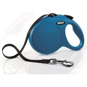 Рулетка Flexi New Classic L лента 5м синяя для собак до 50кг рулетка flexi classic new l ремень 5м до 50кг черный
