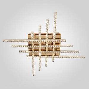 Потолочный светодиодный светильник Eurosvet 90041/8 золото потолочный светодиодный светильник eurosvet soprano 90041 6 золото