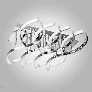 Потолочный светодиодный светильник Eurosvet 90051/8 хром потолочный светодиодный светильник eurosvet хай тек 90020 8 хром