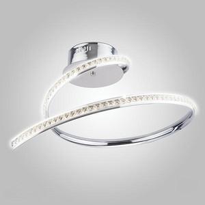 Потолочный светодиодный светильник Eurosvet 90045/1 хром потолочный светодиодный светильник eurosvet 90045 1 хром