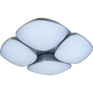 Потолочная светодиодная люстра с пультом IDLamp 307/4PF-LEDSilver потолочная люстра idlamp grace 299 4pf whitepatina