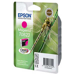 Картридж Epson Magenta Stylus Photo R270/R290/RX590 (C13T11234A10) 6 color refillable inkjet cartridge for epson r270 r290 more