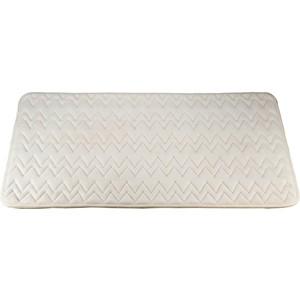 Коврик для ванной Swensa 60х90 см Punto Айвори, Memory foam, полиэстер, слоновая кость (SWM-6020-IVORY) soft memory foam neck sleeping pillow massager fiber slow rebound foam travel home bedding orthopedic pillow memory 50 32 10 8