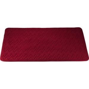 Коврик для ванной Swensa 60х90 см Punto бордо, Memory foam, полиэстер (SWM-6020-BORDO) коврик для ванной swensa 50х80 см spa полиэстер bsm 60 0217 spa