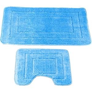 Набор ковров Swensa 45х70/45х45 Como бело-голубой, полипропилен (SWMS-1030-SKY)