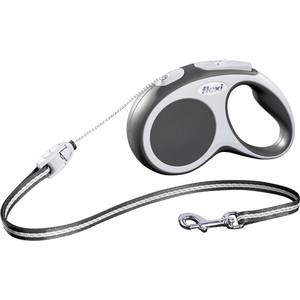 Рулетка Flexi VARIO S трос 5м антрацит/серая для собак до 12кг
