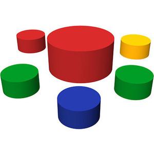 Игровой набор Romana ДМФ-МК-06.92.00(6 элементов) развивающий коврик найди фигуру дмф мк 01 95 11