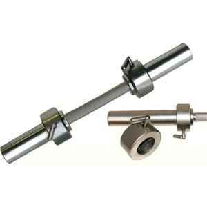 Гриф Barbell гантельный d 50 мм металлическая ручка/стопорный L530 мм гриф mb barbell 1850 мм d 50 мм замок стопорный