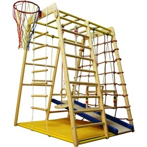 Детский спортивный комплекс Вертикаль Весёлый Малыш Wood горка мягкий бортик детский спортивный комплекс вертикаль п двп