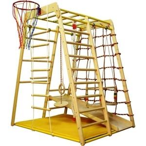 Детский спортивный комплекс Вертикаль Весёлый Малыш Wood горка фанерная спортивный комплекс вертикаль турник 12 1