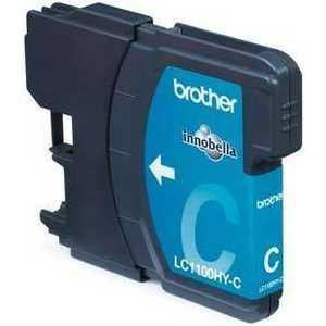Brother LC1100HYC Cyan картридж для струйных аппаратов brother lc3617y желтый для mfc j3530dw j3930dw 550стр lc3617y
