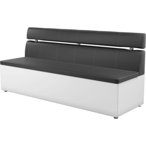 все цены на Кухонный диван АртМебель Классик эко-кожа черно/белый онлайн