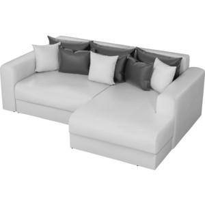 Угловой диван АртМебель Медисон эко-кожа белый правый угол угловой диван артмебель юта 12 правый