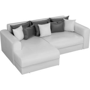 Угловой диван АртМебель Медисон эко-кожа белый левый угол угловой диван артмебель андора ткань правый