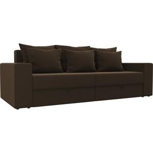 Диван-еврокнижка АртМебель Медисон микровельвет коричневый диван книжка артмебель анна микровельвет коричневый