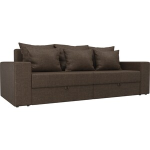 Диван-еврокнижка АртМебель Медисон рогожка коричневый диван еврокнижка фиджи рогожка
