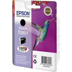Картридж Epson T0801 Black (C13T08014011) color ink jet cartridge for epson px700w px710w px800fw px810fw more